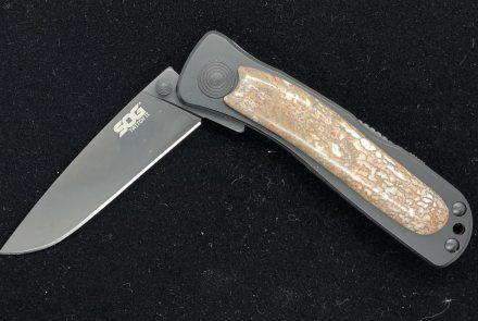 Dinosaur Gem Bone Handled Knife (SOG)