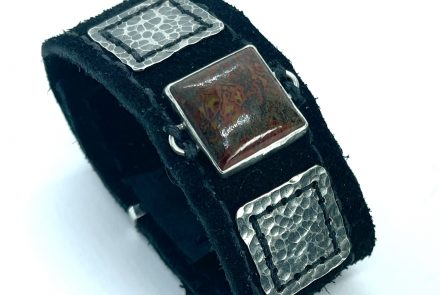 Black Sueded Leather Cuff