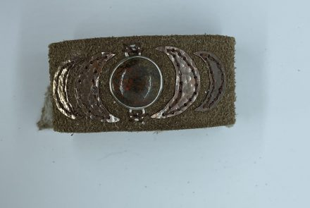 Brown Sueded Leather Cuff
