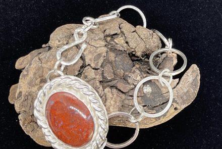 Sterling Silver Cady Mountain Moss Agate Bracelet