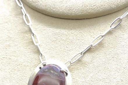 Sterling Silver with Moroccan Seam Agate