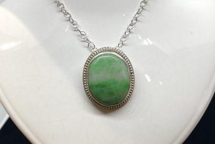 Jade Pendant in Sterling Silver