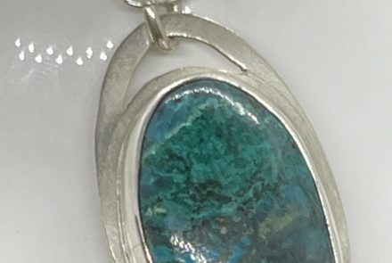 Pendant: Chrysacola and Sterling Silver