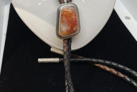 Bolo Tie!  Moroccan Seam Agate in Sterling Silver