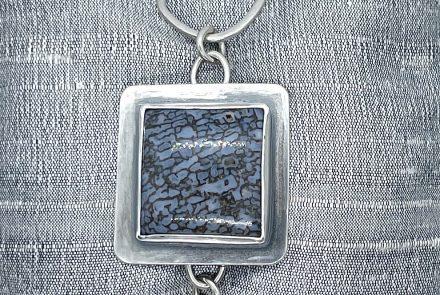 Gem Dino Agate Bracelet with Sterling Silver